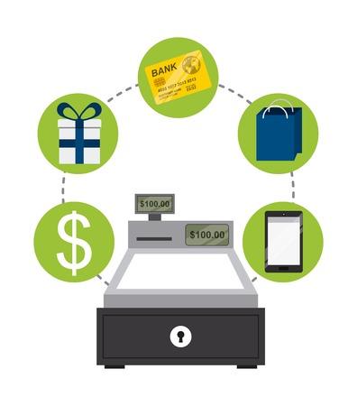 technology transaction: ecommerce concept design, vector illustration eps10 graphic