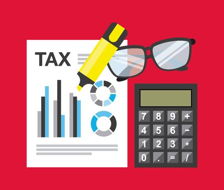 eps10 vector: tax payment design, vector illustration eps10 graphic Illustration