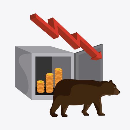 strongbox: Business stock exchange design over white background, vector illustration