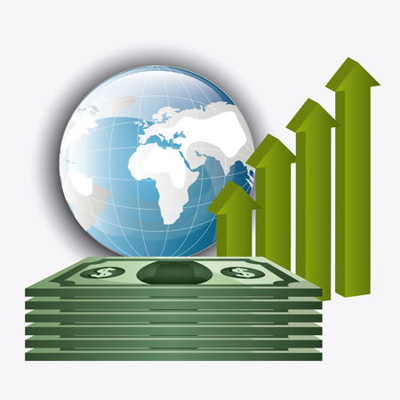 global economy: Global economy, business and money design, vector illustration