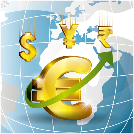 economy: Global economy, business and money design, vector illustration