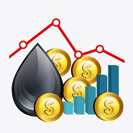 oil industry: Oil prices industry design, vector illustration eps10 Illustration