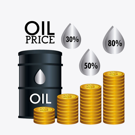 barrell: Oil prices industry design, vector illustration eps10 Illustration