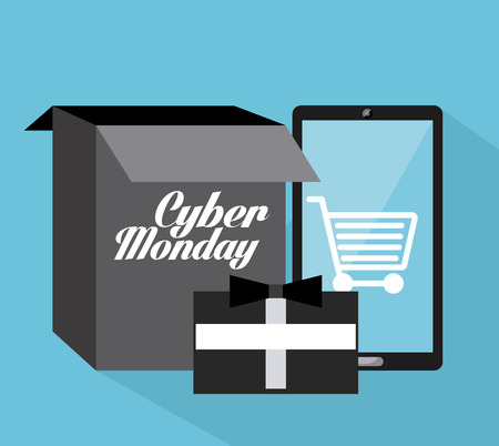 monday: cyber monday design, vector illustration eps10 graphic Illustration