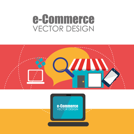 comercio electronico: electronic commerce design, vector illustration eps10 graphic