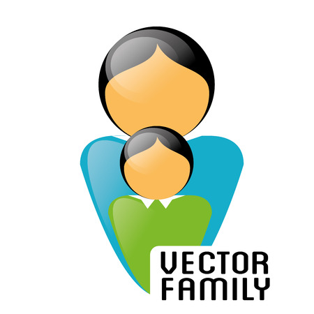 mom and son: Family and home design, vector illustration eps 10