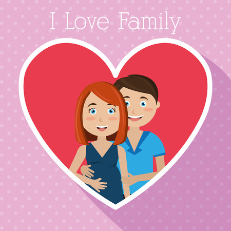 pregnant mom: Family and home design, vector illustration eps 10