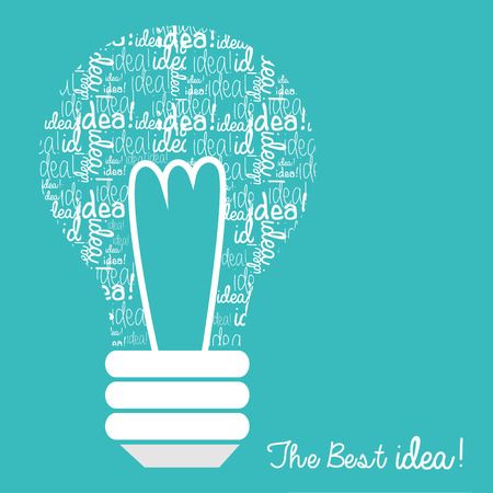 best idea: the best idea design, vector illustration