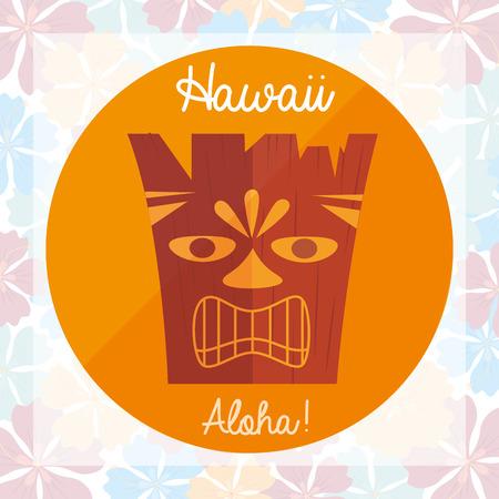 silhouette fleur: bienvenue à la conception hawai, illustration vectorielle Illustration
