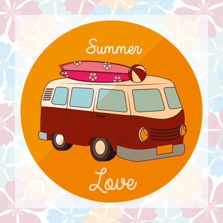 surfers: i love summer holidays design, vector illustration