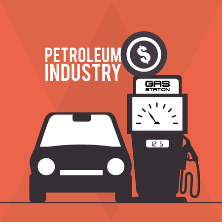 price development: petroleum industry design, vector illustration
