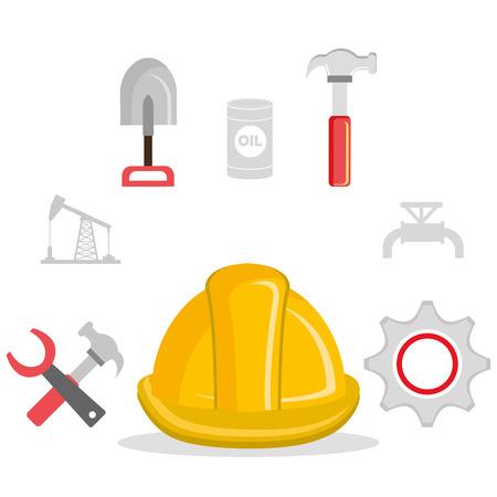 reconstruction: construction industry design, vector illustration