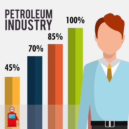 financial concept: petroleum industry design, vector illustration