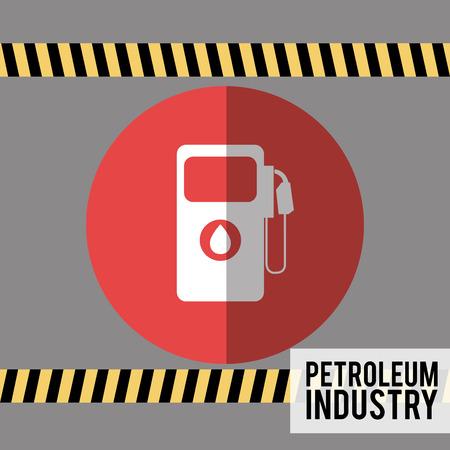 precaution: petroleum industry design, vector illustration