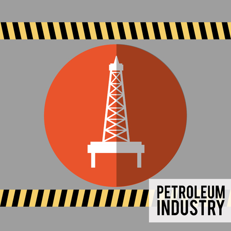 precautions: petroleum industry design, vector illustration