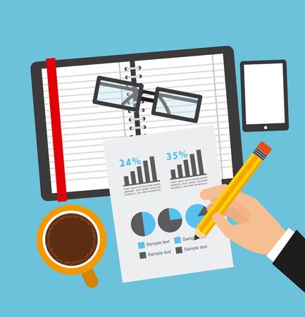 calculations: financial calculations design, vector