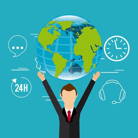 customer: customer service design, vector illustration