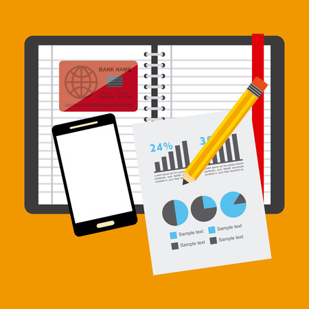 account statements: financial calculations design, vector illustration   graphic