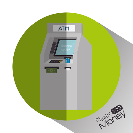 plastic money: Plastic money and electronic payment design, vector illustration.