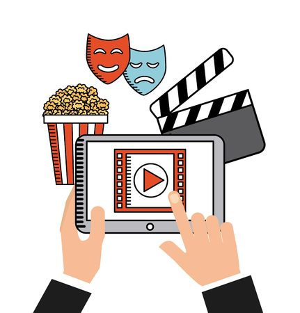users video: movie online design Illustration