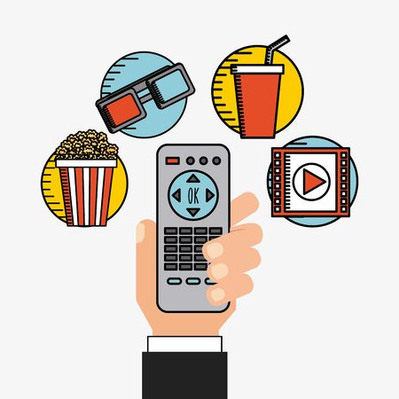 users video: movie online design, vector illustration  Illustration