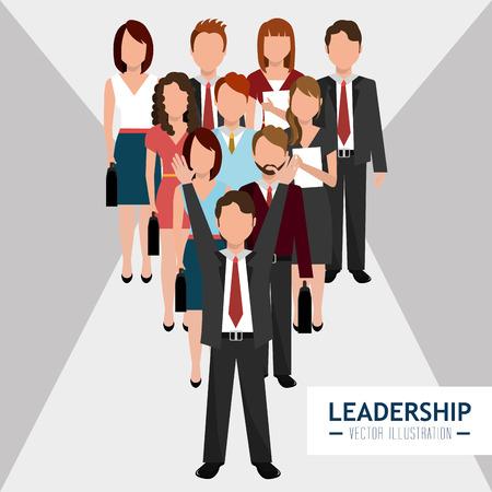 entrepreneur: Leadership business entrepreneur design over gray background, vector illustration