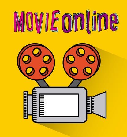 fil: movie online design, vector illustration