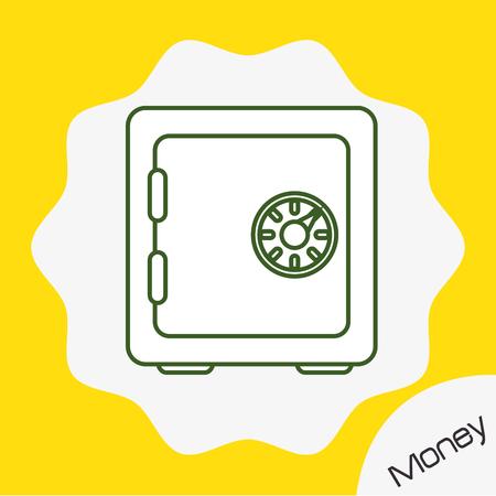 strongbox: Money strongbox icon design, vector illustration