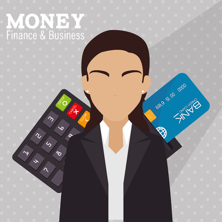 plastic money: Plastic money and electronic payment design Illustration