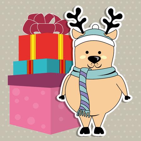happy christmas: happy merry christmas design