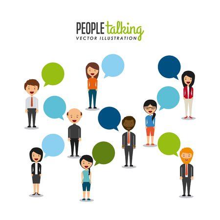 people talking design  Ilustrace
