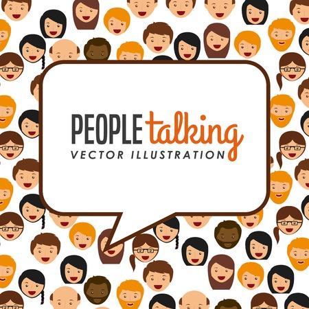 people talking design  Illustration