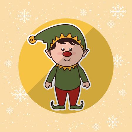 happy christmas: happy merry christmas design Illustration