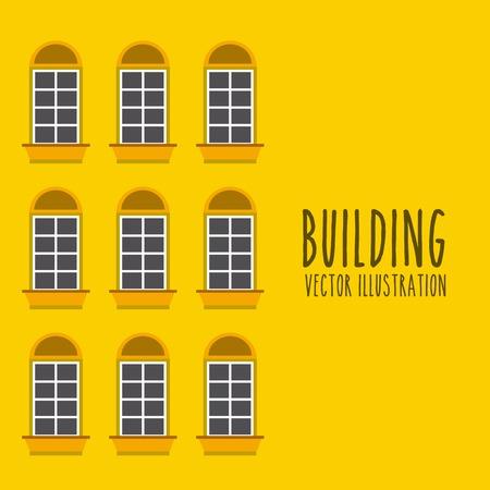 building: front building design  Illustration