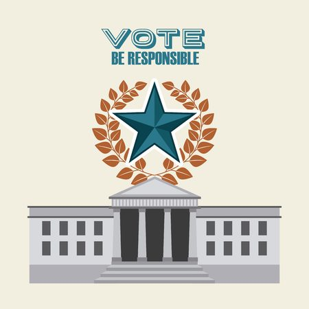 democratic: democratic election design  Illustration