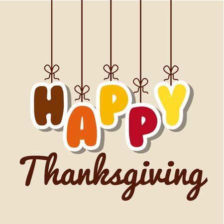 happy thanksgiving design  Ilustrace