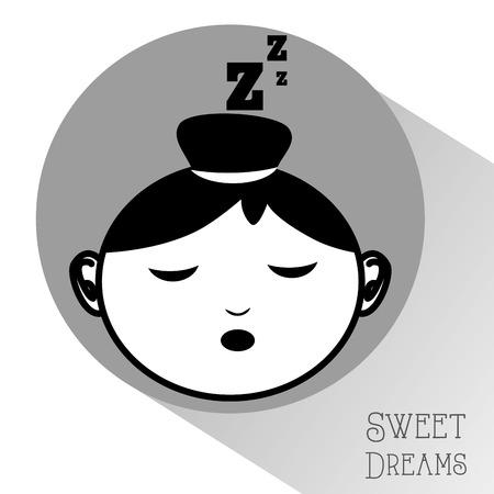 dulces sue�os: sweet dreams design  Vectores