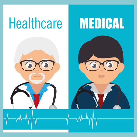 healthcare workers: healthcare medical design  Illustration