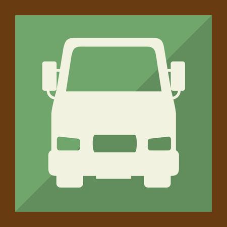 transport truck: means of transport design Illustration