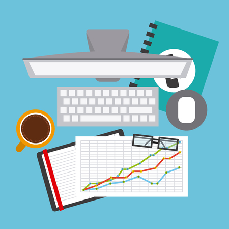 account statements: financial calculation design, vector illustration eps10 graphic