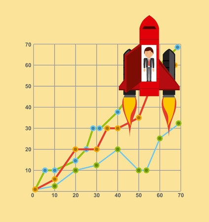 funding: financial startup design, vector illustration eps10 graphic Illustration