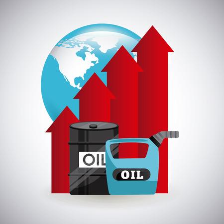 energy market: oil prices design, vector illustration eps10 graphic
