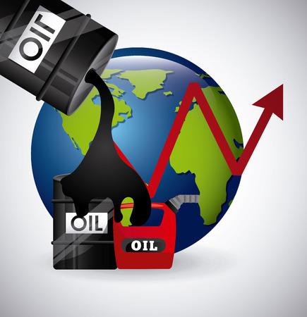 refinería de petróleo: los precios del petróleo diseño, ilustración vectorial gráfico eps10