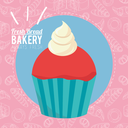 semper: always fresh bakery products design, vector illustration eps10 graphic