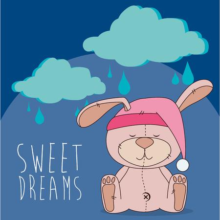 dulces sue�os: sweet dreams design, vector illustration eps10 graphic Vectores