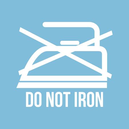 laundry care symbol: Ironing instructions design, vector illustration eps10 graphic