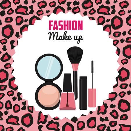 fashion make up design, vector illustration eps10 graphic 向量圖像