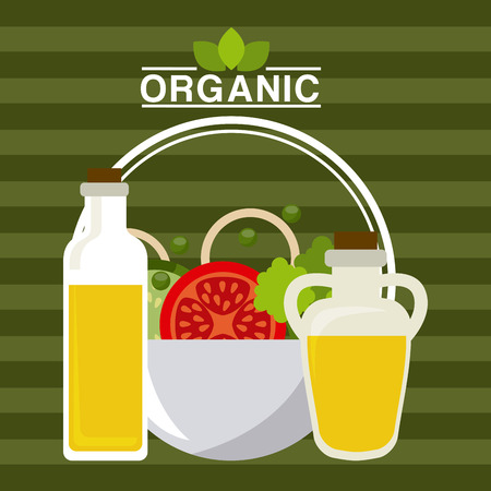 food illustration: organic food menu design, vector illustration eps10 graphic