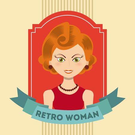 forties: retro woman design, vector illustration eps10 graphic Illustration