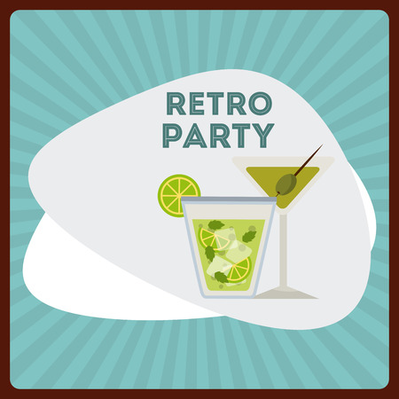 fifties: retro party design, vector illustration eps10 graphic